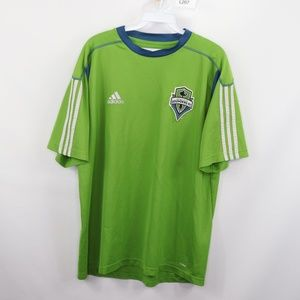 Adidas Mens Large Seattle Sounders Soccer Jersey